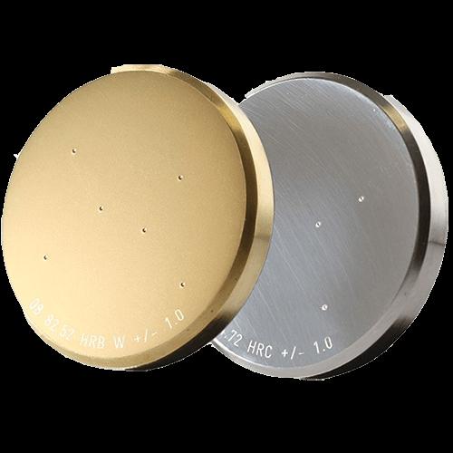 Vickers Knoop Brinell and Rockwell Hardness Testign Blocks